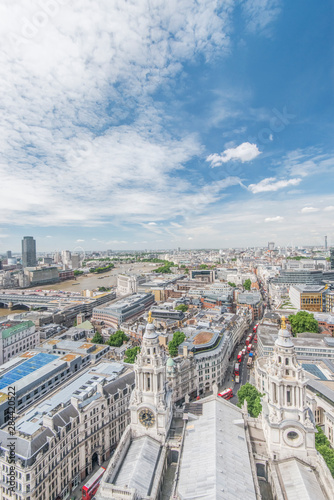 Photo  UK, London. Looking down on the city from St. Paul's Cathedral