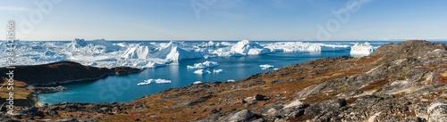 Ilulissat Icefjord also called kangia or Ilulissat Kangerlua Canvas Print
