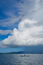 Large Cumulus Cloud Over The Marovo Lagoon, Solomon Islands, Pacific