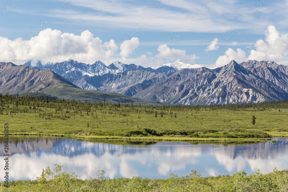 USA, Alaska. Landscape of Chugach Mountains and lake. Credit as: Don Paulson / Jaynes Gallery / DanitaDelimont.com