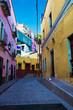 Mexico, Guanajuato, Colorful Back Alley