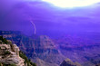 Leinwandbild Motiv United States, Arizona, Grand Canyon National Park. Lightning storm over the canyon seen from the North Rim Lodge.