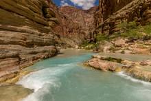 Havasu Creek. Mineral Colored Water. Grand Canyon. Arizona. USA.
