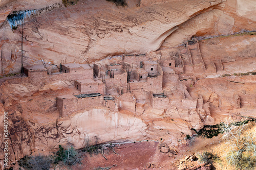 Arizona, Navajo National Monument, Betatakin Cliff Dwelling Wallpaper Mural