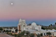 Mission San Xavier Del Bac At Dawn