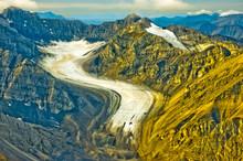 USA, Pacific Northwest, Alaska, Gates Of The Arctic National Park, Arctic Circle. Glaciers Winding Through The Brooks Range.
