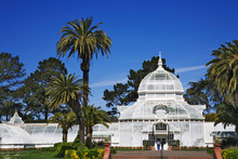 USA, California, San Francisco. The Conservatory Of Flowers In Golden Gate Park.
