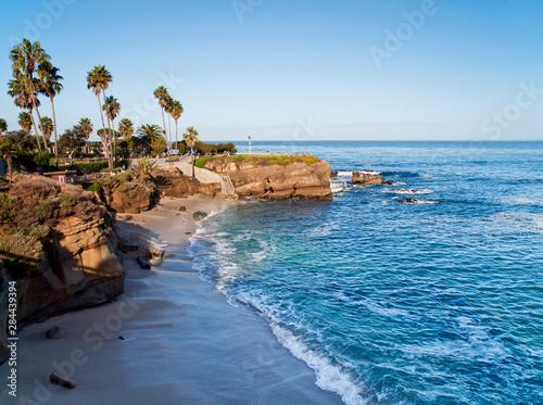 USA, California, La Jolla. A clear morning at La Jolla Cove Canvas Print