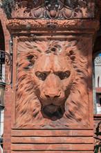 USA, Florida, St. Augustine, Hotel Ponce De Leon, Flagler College Entrance Detail.