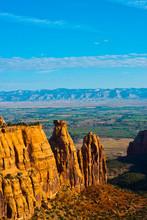 USA, Colorado, Fruita, Grand Junction, Vistas Along Rim Rock Drive, Colorado National Monument