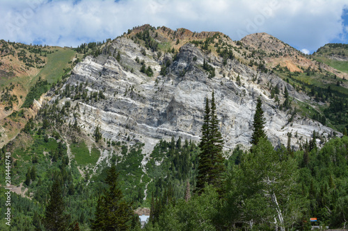 Mountain peak in the rocky mountains of Park City, Utah