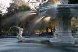 Fototapeta Sawanna - USA, Georgia, Savannah, historic district, Forsyth Park, fountain