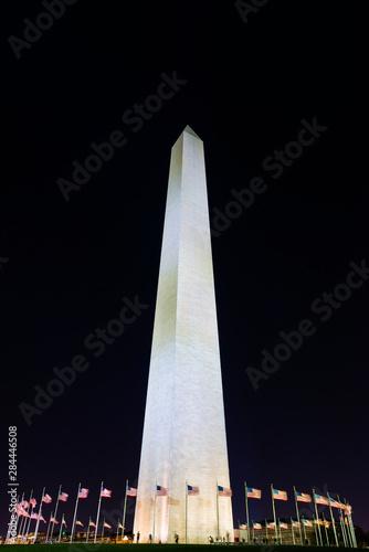 The Washington Monument at night, Washington DC, USA