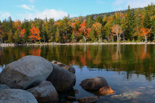 Autumn, Jordan Pond, Acadia National Park, Maine, USA