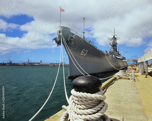 USS Missouri in Pearl Harbor, Hawaii Canvas Print