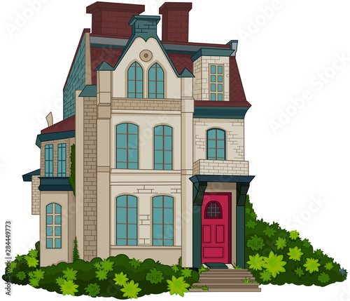 Wall Murals Fairytale World Victorian House Facade