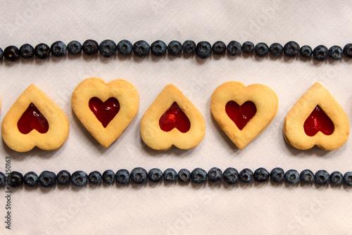 USA, Maryland, Bethesda, Hearts in a Row