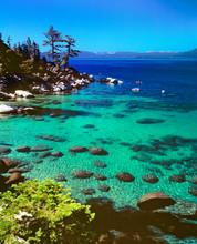 USA, Nevada, Lake Tahoe. Kayakers Enjoy A Lovely Day On Lake Tahoe, Nevada