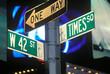 Street Sign at Times Square, Manhattan, New York, USA.