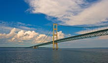 Sailing Under The Mackinac Bridge