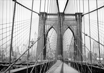 FototapetaBrooklyn Bridge, 1948, New York