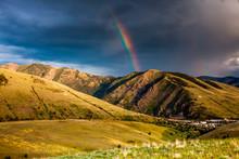 Rainbow At Sunset Over Hellgat...