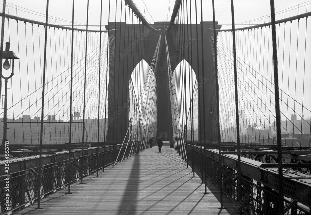Fototapety, obrazy: Brooklyn Bridge, 1948, New York