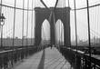 canvas print picture - Brooklyn Bridge, 1948, New York
