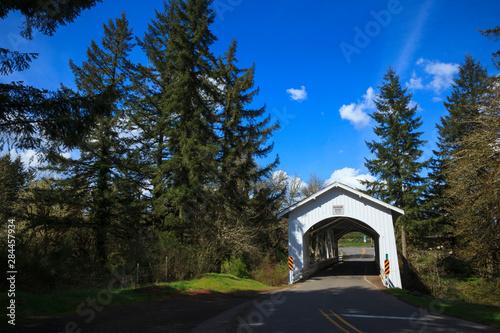Vászonkép USA, Oregon, Hannah Bridge.