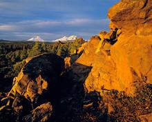 USA, Oregon, Three Sisters. A ...