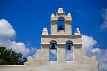 USA, Texas, Bell Tower At Mission San Juan Capistrano, San Antonio