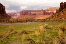Stormy Desert Landscape, Indian Creek, Utah