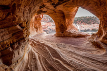 Moqui Cavern, Sandstone Erosion Cave, Near Kanab, Utah