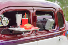 Classic Car At Drive In Movie ...