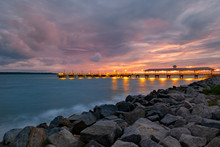 The Pier At Sunset, St Simons Island, GA