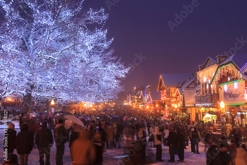 Christmas Lighting Festival, Leavenworth, Bavarian Alpine Village, Eastern Washi Tapéta, Fotótapéta