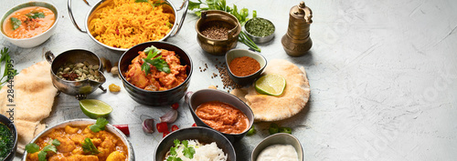 Traditional indian cuisine Canvas Print
