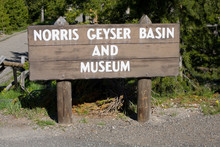 WY, Yellowstone National Park, Norris Geyser Basin Sign