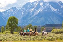 Horse Riding, Grand Teton National Park, Wyoming, USA