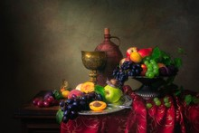 Still Life With Fruits In Baro...
