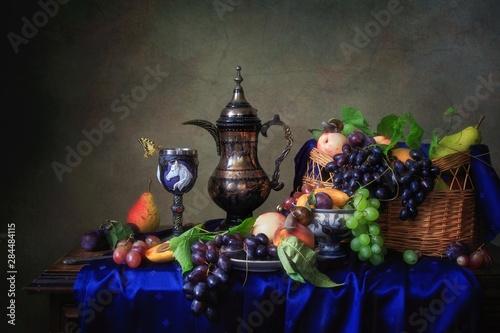 Fototapeta Still life with fruits in Baroque style obraz