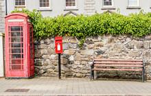 Red Old Irish Telephone Booth