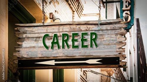 Fotografie, Obraz Street Sign to Career