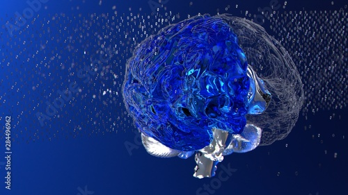 Big data brain informational binary particles understanding complex information Canvas-taulu
