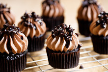 Homemade Sweet Chocolate Cupcakes