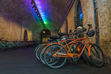 Bikes In Banksky Tunnel, London.