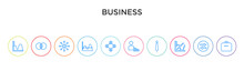 Business Concept 10 Outline Colorful Icons