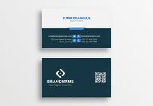 Blue Technology Business Card Template, Tech Visiting Card Design