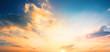 Leinwandbild Motiv World Environment Day concept: Orange cloudy sky background