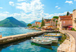 canvas print picture - City Perast Montenegro